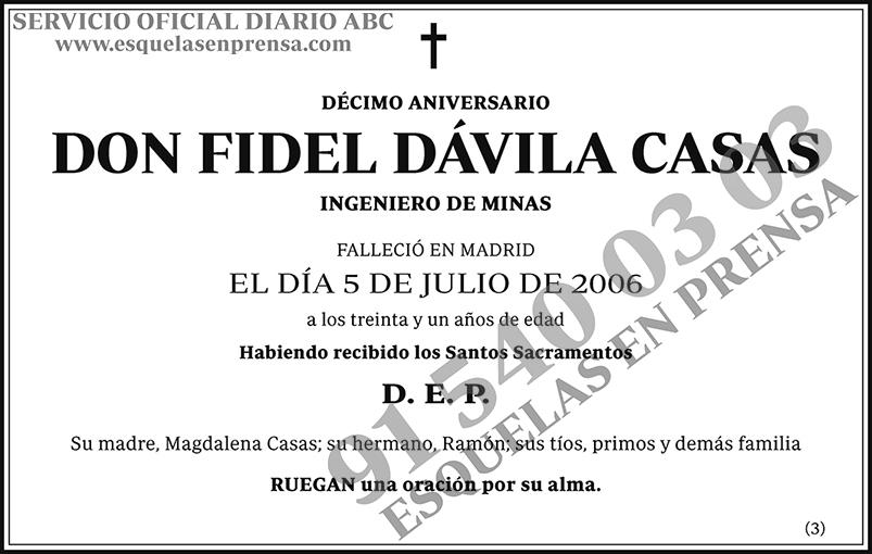 Fidel Dávila Casas